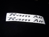 RAM AIR VINYL STICKER DECAL SET OF 2