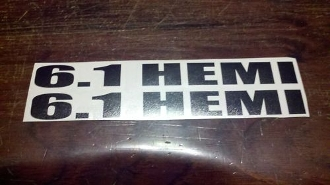 6.1 HEMI DECAL SET OF 2