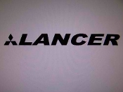"LANCER WINDSHIELD DECAL BANNER VINYL STICKER 4"" X 40"""
