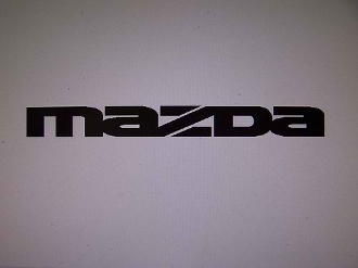 "MAZDA WINDSHIELD DECAL BANNER VINYL STICKER 4"" X 40"""