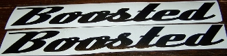 BOOSTED VINYL STICKER DECAL SET OF 2