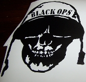 BLACK OPS SKULL VINYL DECAL STICKER