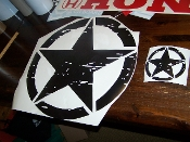 JEEP FREEDOM EDITION OSCAR MIKE STAR HOOD & QUARTER DECAL SET