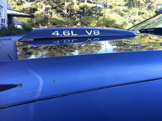 4.6L V8 HOOD SCOOP DECAL SET OF 3