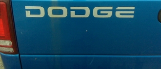 DODGE TAILGATE DECAL CHOOSE COLOR RAM DAKOTA