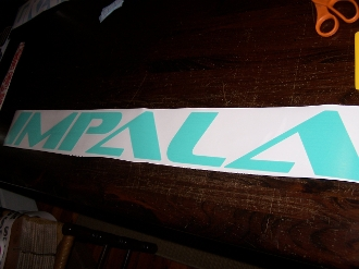 IMPALA WINDSHIELD WINDOW DECAL STICKER BANNER CHOOSE COLOR