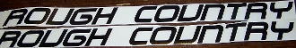 JEEP ROUGH COUNTRY HOOD DECAL SET OF 2 CHOOSE COLOR