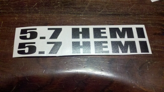 5.7 HEMI HOOD VALVE COVER HOOD VINYL DECALS STICKERS SET OF 2