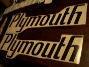 PLYMOUTH QUARTER PANEL DECALS SUPERBIRD SET