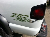 ZR2 OFF ROAD BEDSIDE / WINDOW STICKER VINYL DECAL CHOOSE COLOR
