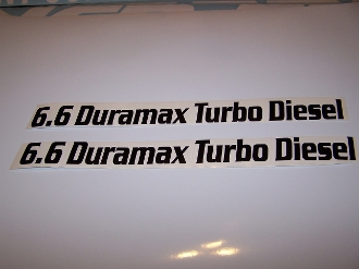 6.6 DURAMAX TURBO DIESEL VINYL DECAL SET OF 2 CHOOSE COLOR