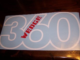MOPAR 360 340 383 440 WEDGE HOOD DECAL STICKER
