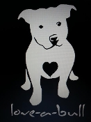 PITBULL LUV-A-BULL VINYL DECAL STICKER CHOOSE COLOR