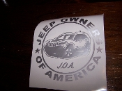 JEEP OWNERS OF AMERICA MEMBERS KL VINYL DECAL STICKER CHEROKEE