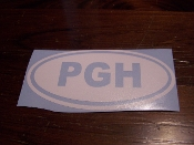 PITTSBURGH LOCATION IDENTITY VINYL DECAL STICKER CHOOSE COLOR