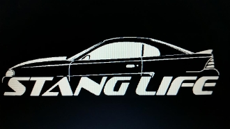 1994-1995 STANG LIFE WINDOW BANNER STICKER DECAL CHOOSE COLOR