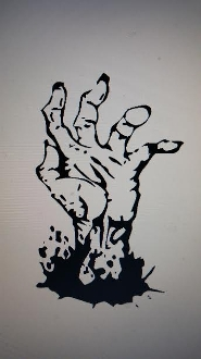 ZOMBIE VINYL DECAL STICKER THE WALKING DEAD CHOOSE COLOR