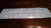 STANG LIFE WINDOW BANNER STICKER DECAL FOX BODY CONVERTIBLE