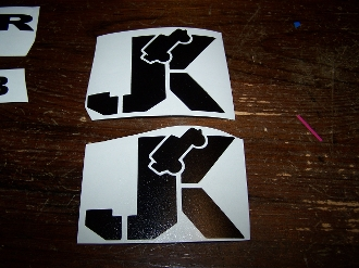 JK JEEP VINYL STICKER DECAL WRANGLER JK JKU SET OF 2
