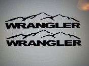 JEEP WRANGLER FENDER VINYL DECAL SET OF 2 JK TJ CHOOSE COLOR