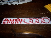 AUDI SPORT VINYL DECAL STICKER
