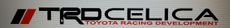 TRD CELICA WINDSHIELD VINYL DECAL BANNER CHOOSE SIZE & COLOR