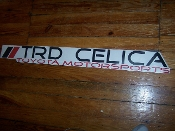 TRD CELICA WINDSHIELD VINYL DECAL STICKER BANNER