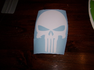 PUNISHER SKULL VINYL STICKER DECAL JEEP WRANGLER