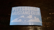 PITTSBURGH MUSTANG CLUB DECAL STICKER