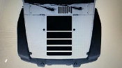 JEEP WRANGLER HOOD BLACKOUT STROBE DESIGN DECAL FOR JK TJ YJ CJ