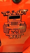 NOT MY HUSBANDS JEEP VINYL DECAL STICKER
