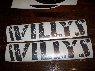 JEEP WRANGLER WILLYS HOOD DECAL SET
