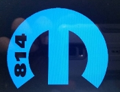 814 MOPARS LOGO WITH 814 AT THE SIDE VINYL STICKER DECAL