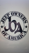 JEEP OWNERS OF AMERICA MEMBERS VINYL DECAL STICKER