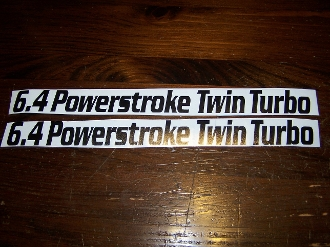6.4 POWERSTROKE TWIN TURBO DECAL SET