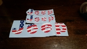 1975-86 JEEP CJ TAILGATE & FENDER FLAG DECAL KIT CJ7 SCRAMBLER