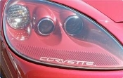 CORVETTE C6 HEADLIGHT DECAL CHOOSE COLOR SET OF 2