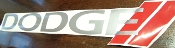 DODGE WINDSHIELD BANNER NEW LOGO CHOOSE COLORS & SIZE