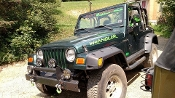 JEEP WRANGLER HOOD DECAL SET CHOOSE COLOR