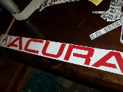 ACURA WINDSHIELD DECAL BANNER
