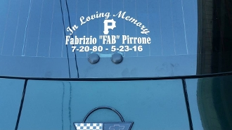 "FABRIZIO ""FAB"" PIRRONE MEMORIAL DECAL STICKER"
