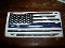 DISTRESSED SMALL AMERICAN FLAG BLUE LINE VINYL DECAL STICKER