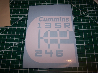 CUMMINS LOGO 6 SPEED WITH TEXT VINYL STICKER DECAL