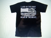 LAND OF THE FREE HOME OF THE BRAVE T-SHIRT CHOOSE SIZE AND COLOR