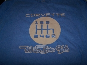 CORVETTE 6 SPEED REAL MEN DRIVE STICK T-SHIRT