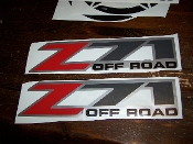 Z71 4X4 BEDSIDE / WINDOW STICKER VINYL DECAL CHOOSE COLORS