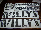JEEP WILLYS EDITION FOR JKU UNLIMITED COMPLETE DECAL SET
