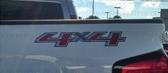 4X4 DECAL CHEVROLET SILVERADO GMC SIERRA COLORADO CANYON