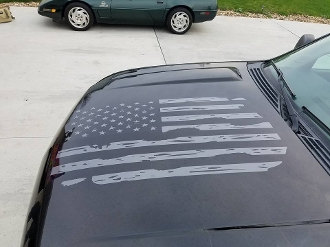 CHEVROLET GMC SUBURBAN TAHOE SILVERADO DISTRESSED FLAG DECAL