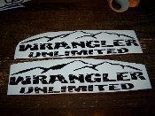 JEEP WRANGLER UNLIMITED FENDER DECALS VINYL STICKER SET OF 2
